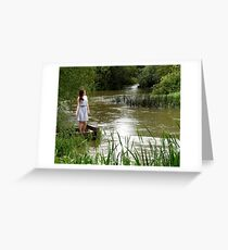 Strong River Flows Greeting Card