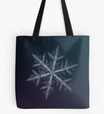 Neon, snowflake macro photo Tote Bag