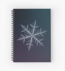Neon, snowflake macro photo Spiral Notebook