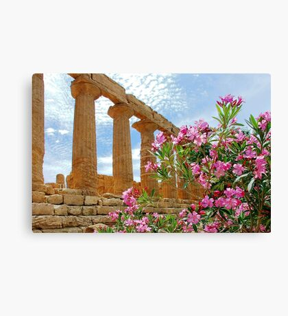 Temple valley Agrigento Sicily Italy Canvas Print