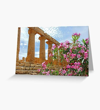 Temple valley Agrigento Sicily Italy Greeting Card