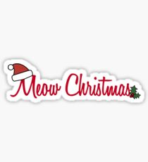 Meow Christmas Greeting Sticker