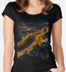 Ho Chi Minh By Night Women's Fitted Scoop T-Shirt