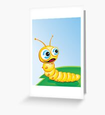 Critterz - Caterpillar - Chomp Greeting Card