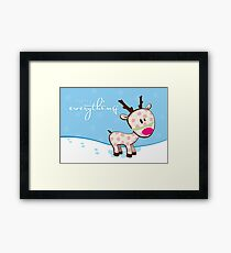 sweet little reindeer Framed Print