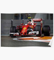 Kimi Raikkonen Ferrari Formula 1 2016 Poster