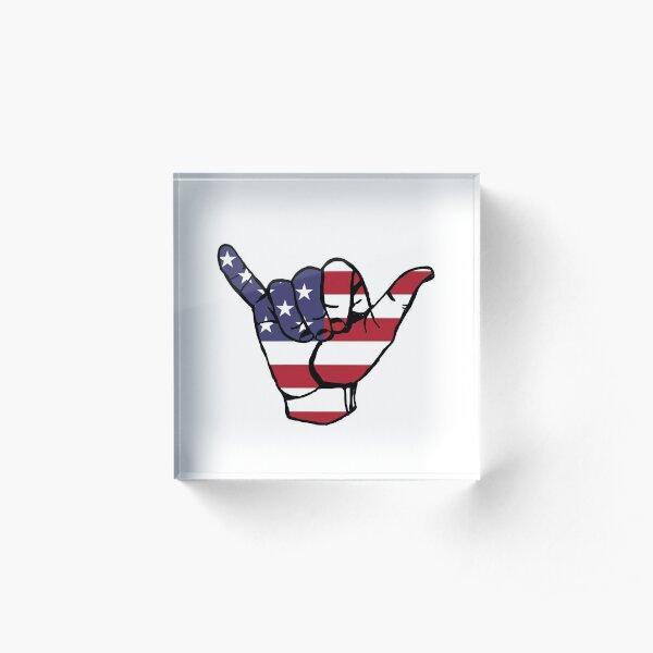 america vibez~~~ Acrylic Block