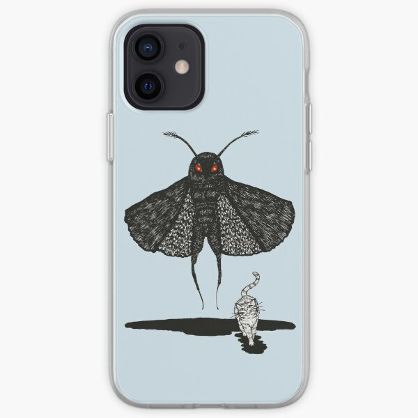 Mothman and a Cat iPhone Soft Case