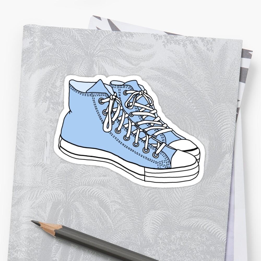 pastel blue converse sticker by Sam W