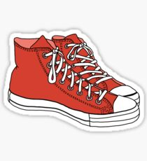 Red Converse Stickers | Redbubble