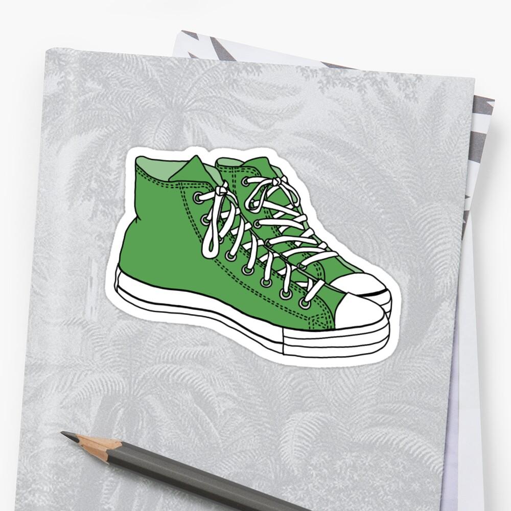 green converse sticker by Sam W