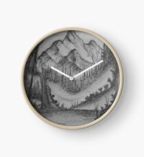 Mountain Peak  Clock