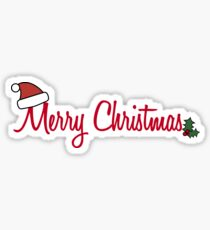 Merry Christmas Greeting Sticker