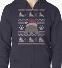 Sudadera con capucha y cremallera Navidad de Makkachin