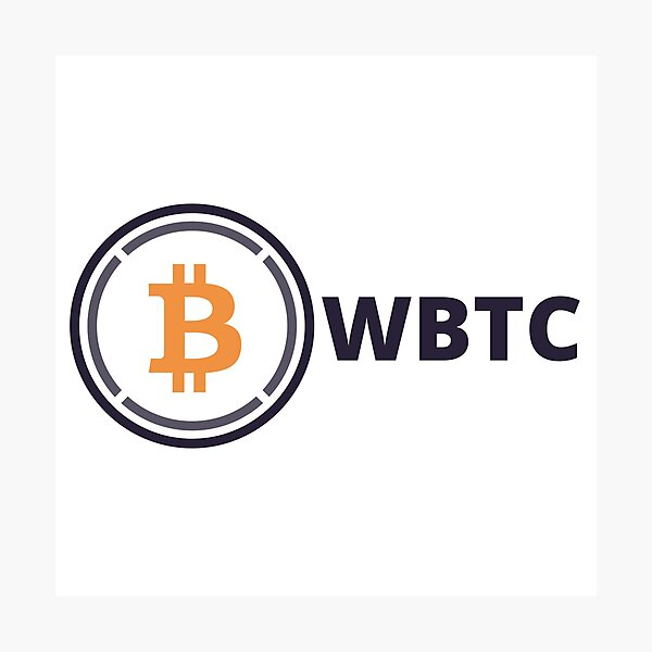 Wrapped Bitcoin WBTC Cryptocurrency Photographic Print