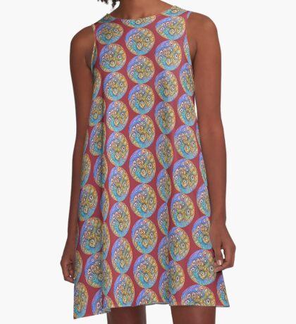 Planet Four #Deepdream A-Line Dress