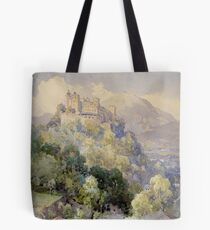 Overlooking the Hohenwerfen Fortress in Salzburg by Edward Theodor Compton Tote Bag