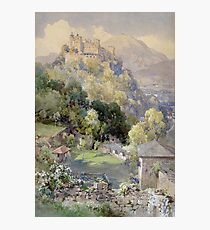 Overlooking the Hohenwerfen Fortress in Salzburg by Edward Theodor Compton Photographic Print