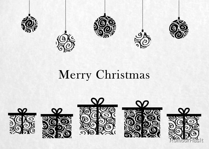 Joyeux Noel Noir Et Blanc Par Rumourhasit Redbubble