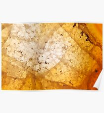Yellow agate mineral super macro Poster