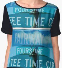 Fairway-Foursome-Tee Time Women's Chiffon Top