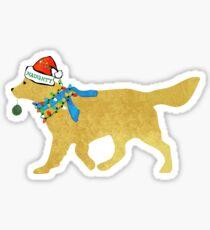 Golden Retriever Naughty Christmas Dog Sticker