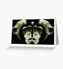 Monkey Kiss Greeting Card