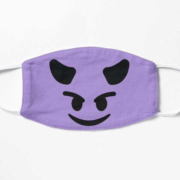 Smiling Devil horn face Emoji Costume Devil Purple Gift Flat Mask