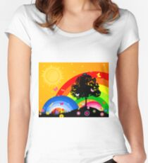 Bright sky Women's Fitted Scoop T-Shirt