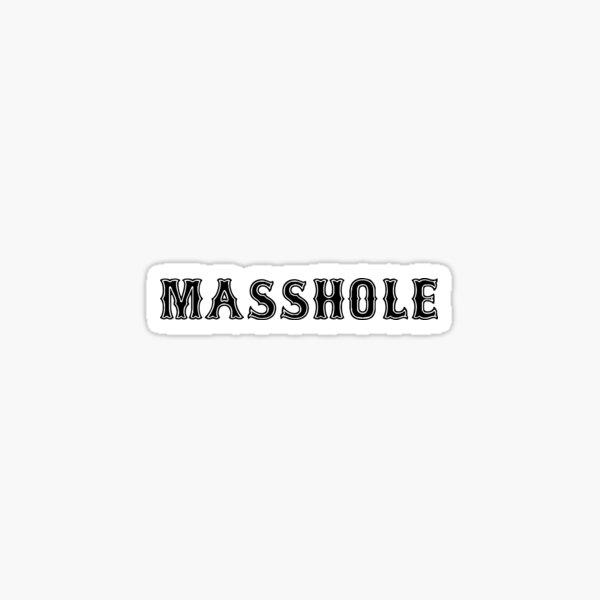 Massachusetts Hole Masshole Sticker