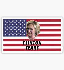 Clinton Tears Sticker