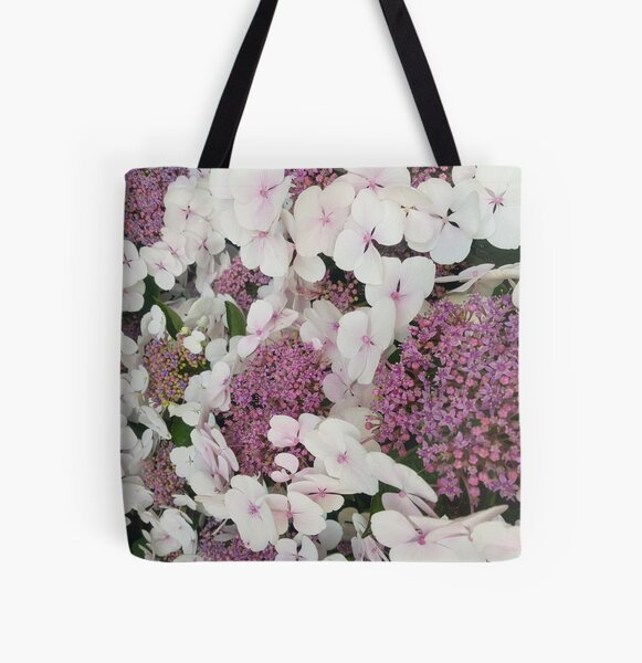 Pink flowers everywhere All Over Print Tote Bag