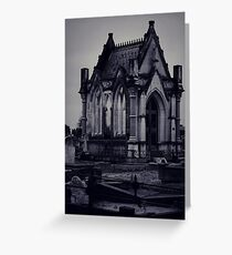 Gothic Crypt. Greeting Card