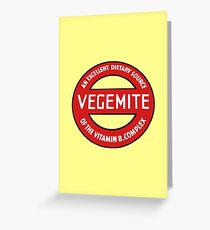 Vintage Vegemite Greeting Card