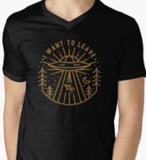 I Want To Leave Men's V-Neck T-Shirt
