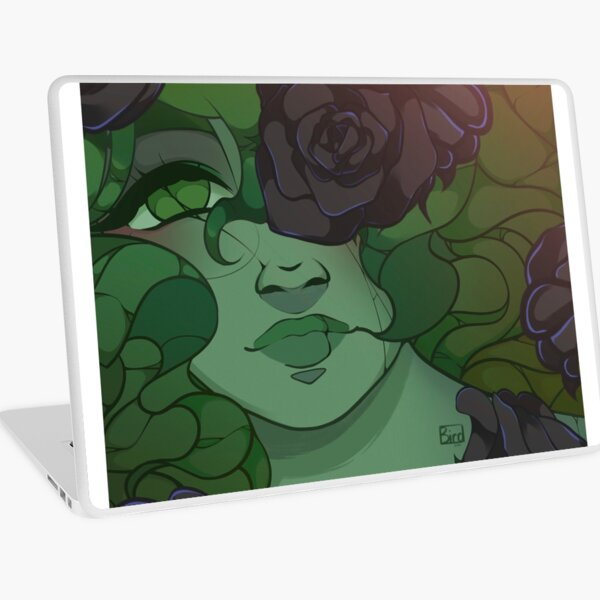 Haunted Garden Rose Laptop Skin