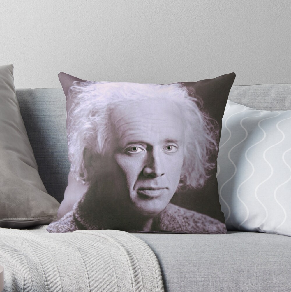 Nicolas Cage - Einstein Throw Pillow