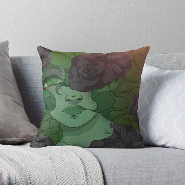 Haunted Garden Rose Throw Pillow