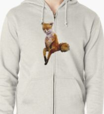 Stoned fox the Taxidermy Fox Meme Zipped Hoodie
