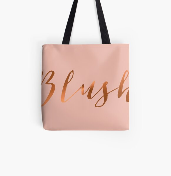 Blush Pink and Copper Make up Bag All Over Print Tote Bag