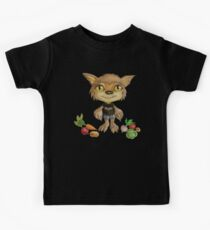 vegan werewolf and veggies Kids Clothes