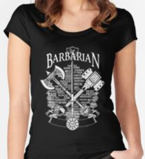 RPG Class Series: Barbarian - White Version Women's Fitted Scoop T-Shirt