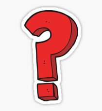 cartoon question mark symbol Sticker