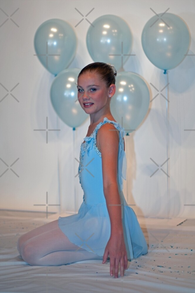 Blue ballerina girl by Lanii  Douglas