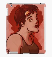 Hazel Eyed Girl with Goggles iPad Case/Skin