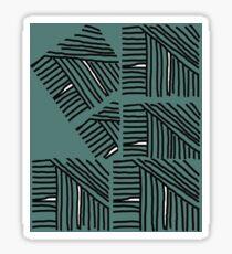 Line pattern black and green Sticker