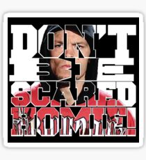 Don't Be Scared Homie! Sticker