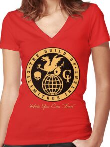 The Guild of Calamitous Intent Women's Fitted V-Neck T-Shirt