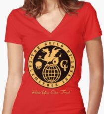 The Venture Brothers - Guild of Calamitous Intent Women's Fitted V-Neck T-Shirt