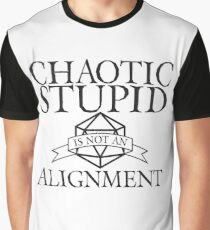 D&D - Chaotic Stupid Alignment Graphic T-Shirt